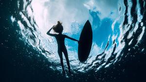 Sea Water Women Women Outdoors Underwater 2048x1366 Wallpaper