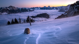 Nature Landscape Winter Cold Ice Snow Outdoors Mountains 2048x1288 Wallpaper