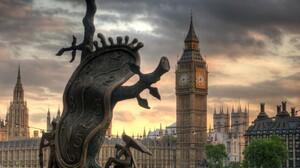 England Big Ben Clocktowers Sculpture Melting Clocks City 1572x1200 wallpaper