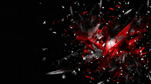 3D 3D Abstract Shards Black Red 1680x1050 Wallpaper
