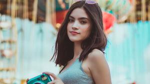 Cero Grey Women Model Women With Shades Pink Pants Camera Women Outdoors Mexican Brunette Dark Hair  1365x2048 wallpaper