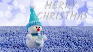 Christmas Snowman Toy 4805x3182 wallpaper