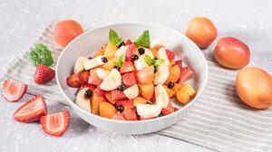 Apricot Fruit Strawberry 2048x1362 Wallpaper
