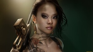 Fantasy Women Warrior 2144x1206 Wallpaper