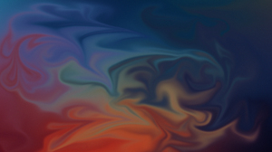 Abstract Fluid Colorful Color Burst Interference Shapes Blue Yellow Orange Purple 5001x2771 Wallpaper