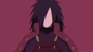 Black Hair Boy Madara Uchiha Minimalist Naruto Uchiha Clan 2560x1440 Wallpaper