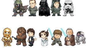 Boba Fett C 3po Cartoon Chewbacca Darth Vader Han Solo Obi Wan Kenobi Princess Leia R2 D2 Star Wars  1920x1200 Wallpaper