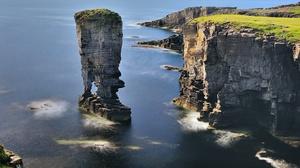 Cliff Coast Nature Rock Scotland 2048x1360 Wallpaper