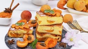 Apricot Dessert Fruit Pastry Pie Still Life 4400x3240 Wallpaper