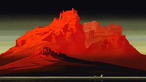 Li Ming Digital Art Abstract Landscape Ruins Castle Horse 1920x1108 Wallpaper