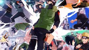 Asuma Sarutobi Genma Shiranui Hidan Naruto Iruka Umino Kaguya Tsutsuki Kakashi Hatake Kakuzu Naruto  3541x2508 Wallpaper