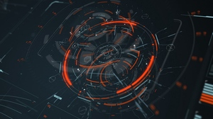 Hologram Schematic Science Fiction Abstract Lines 3840x2400 Wallpaper
