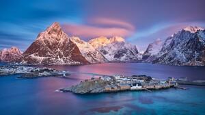 Mountain Norway Reine 3840x2160 Wallpaper