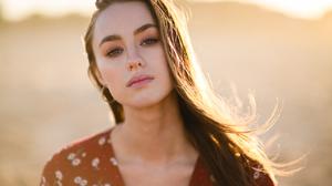 Long Hair Looking At Viewer Women Women Outdoors Hoop Earrings Brunette Eyebrows Portrait Sunlight D 1280x854 Wallpaper