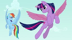 Rainbow Dash Twilight Sparkle 1500x1000 Wallpaper