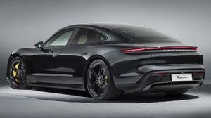 Black Car Car Electric Car Luxury Car Porsche Taycan Turbo S Sedan 1920x1080 Wallpaper