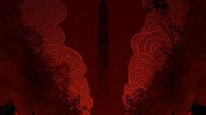 Silhouette Minimalism Red Fox 1600x2264 Wallpaper