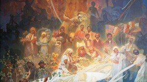 The Slav Epic Alphonse Mucha Painting Artwork 1200x1440 wallpaper