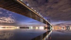 Pennsylvania Philadelphia Benjamin Franklin Bridge 3840x2160 wallpaper