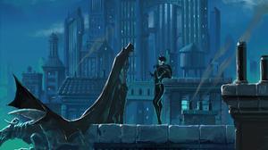 Batman Catwoman Dc Comics Gotham City 2560x1440 Wallpaper
