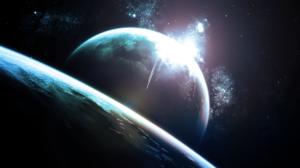 Sci Fi Planet Rise 1920x1080 wallpaper