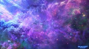 Yuliya Zabelina Digital Art Fantasy Art Space Nebula Clouds Planet Spiritus The Universe 1920x1080 Wallpaper