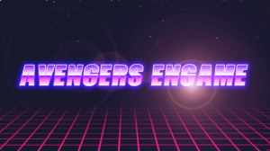 Avengers Endgame Retro Word 3400x1800 Wallpaper