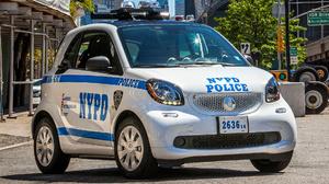 Car Hatchback Police Car Smart Fortwo 1920x1080 wallpaper