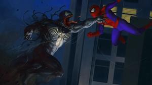 Spider Man Venom 3289x2269 wallpaper
