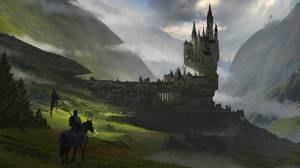 Castle City Fog Horse Landscape Warrior 1920x1137 wallpaper