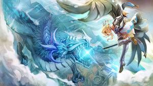 Lumine Genshin Impact Dragon 2047x1200 wallpaper