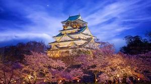 Man Made Osaka Castle 2200x1100 Wallpaper