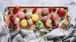 Berry Fruit Macaron Still Life Sweets 5134x3423 Wallpaper