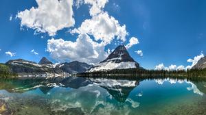 USA Nature Reflection Rocky Mountains Landscape Montana Glacier National Park 5625x2060 Wallpaper
