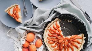 Dessert Fruit Pastry Peach Pie Still Life 3968x2976 Wallpaper