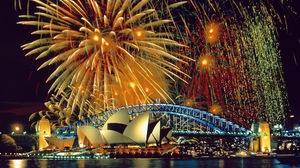 Bridge Fireworks Sydney Sydney Harbour Sydney Opera House 2048x1536 Wallpaper
