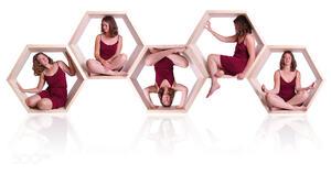 Hexagon Women Model 500px Women Indoors Studio Sitting Legs Crossed Simple Background White Backgrou 2048x1152 Wallpaper