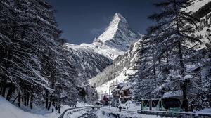 Landscape Matterhorn Peak Switzerland Winter 1920x1284 wallpaper