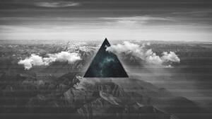 Polyscape Triangle Mountain 3840x2160 Wallpaper