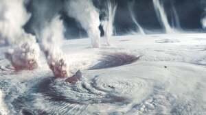 Artwork Digital Art Hurricane Planet 2500x1137 Wallpaper