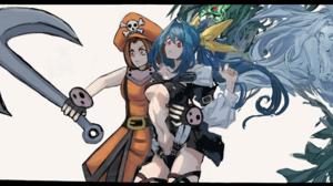 Guilty Gear Dizzy Guilty Gear May Guilty Gear Anime Games Anime Girls Guilty Gear XX Blue Hair Anime 2468x1751 wallpaper