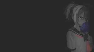 Anime Manga Anime Girls Fan Art Illustration Minimalism Selective Coloring Dark Background Kantai Co 1920x1080 Wallpaper