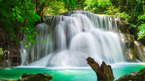 Forest Turquoise Waterfall 4576x3050 wallpaper