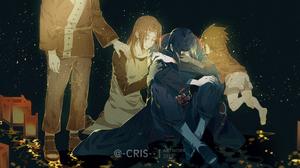 Fugaku Uchiha Itachi Uchiha Mikoto Uchiha Sasuke Uchiha 3500x1806 Wallpaper