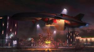 Sci Fi Spaceship 2900x1214 Wallpaper