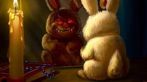 Bunny Candle Evil Horror Smile 1280x1024 Wallpaper