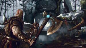 Omer Tunc Artwork God Of War Video Games Digital Art Digital Painting God Of War 2018 Fan Art Video  1920x1089 wallpaper