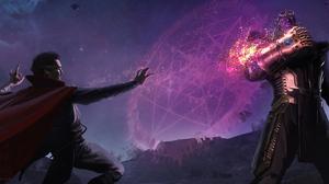 Doctor Strange Infinity Gauntlet Marvel Comics Thanos 3840x1634 Wallpaper