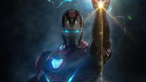 Avengers Endgame Iron Man Tony Stark 2400x1350 Wallpaper