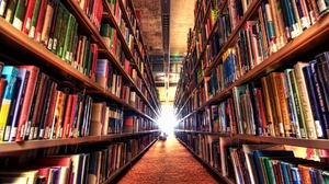 Book Library Shelf 1920x1080 wallpaper